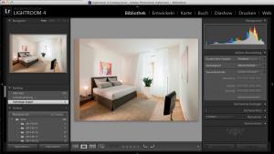Adobe Lightroom eignet sich bestens zum Nachbearbeiten Ihrer Immobilienfotos